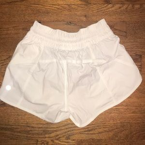 Lulu lemon white shorts